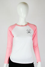 Paul Frank Julius & Friends SMALL $41 White Pink Skurvy Long Sleeve T-Shirt Top