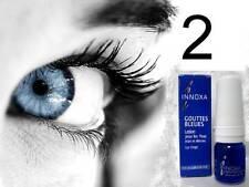 2 Bottles Innoxa French Blue Eye Drops Gouttes Bleues 10ml Exp 12/19