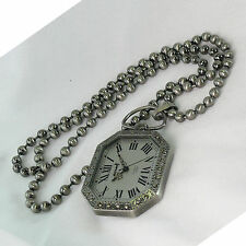 #00027 Luxury Necklace Chain Watch Antique Style Japan Mov'T (Made In Korea)