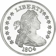 SilverTowne 1804 $1 Struck in 1oz .999 Fine Silver Medallion