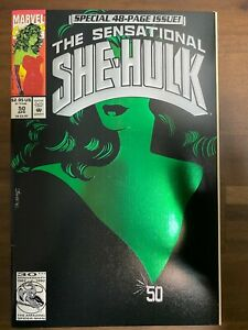 THE SENSATIONAL SHE-HULK # 50 VF+/NM 1993 MARVEL COMICS SPECIAL 48 PAGE ISSUE