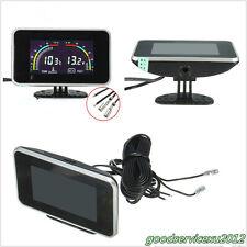 9-16V Dual-Function Autos LCD Digital Display Voltmeter Water Temperature Meter