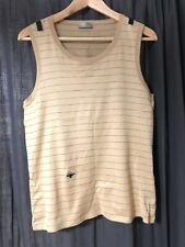 Dior Homme 04SS VOTC Bee Beige Tank Top Shirt Leather Straps Hedi Slimane Rare