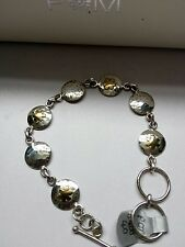 Pretty Sterling Silver Bracelet with flower detail.  Brand New in Box