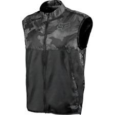 Fox Head Dawn Patrol Cycling Packable Lightweight Vest Black Camo Size Small New