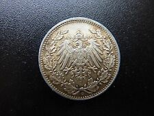 1917 D Germany Silver 1/2 Mark Low Mintage Mintmark