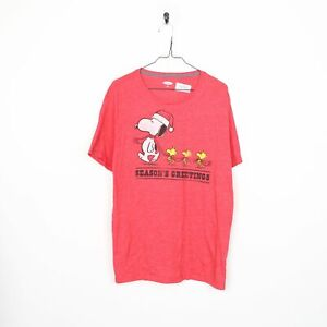 T.V. OLD NAVY Snoopy Graphic Big Logo T Shirt Pink | XL