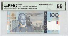 Haiti 2004 P-275a PMG Gem UNC 66 EPQ 100 Gourdes *Commemorative*