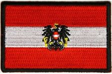 "(C45) AUSTRIAN FLAG 3"" x 2"" iron on patch (5202) Biker Austria"
