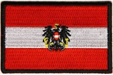"(C45) AUSTRIAN FLAG 3"" x 2"" iron on patch (5202) Biker Austria"