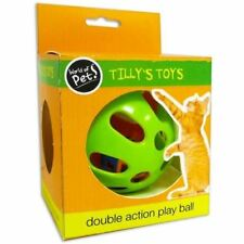 Tilly's Toys DOUBLE ACTION PLAY BALL & BELL SET CAT KITTEN TOY WORLD OF PETS