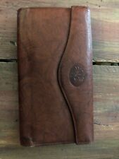 """Buxton brown leather organizer clutch wallet - 7"""" by 4"""" Preowned in good shape"""