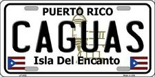 CAGUAS Puerto Rico Novelty State Background Metal License Plate