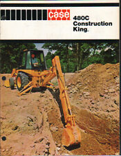 "CASE ""480C"" Construction King Tractor Backhoe Loader Brochure Leaflet"