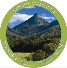 Panoramic Bumper Sticker of Mount Warning Tweed Valley, Australia