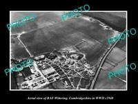 OLD LARGE HISTORIC PHOTO RAF WITTERING CAMBRIDGESHIRE ENGLAND AERIAL VIEW c1940