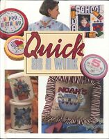 Quick As A Wink Cross Stitch Book 1996 Leisure Arts Amish Mini Quilts Baby Gifts