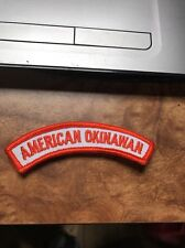 "Rare American Okinawan Patch Vtg 70s 80s Unused Karate Display Mma 4"" Orange"