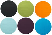 "IKEA place mat 15"" purple green black blue round modern table placemat pad Panna"