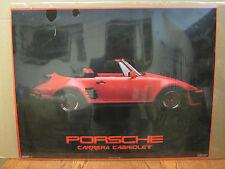 Vintage Porsche Carrera Cabriolet 1985 poster 3298