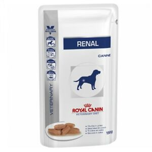 3x150g Royal Canin Veterinary Diet Dog Food Renal Chunk In Gravy Pouch Kidney