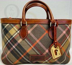 Dooney & Bourke*Brown Tartan Plaid Satchel/Shoulder Bag* 21146M S187