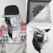 Fashion Unisex Cotton Paisley Bandanas Double Sided Head Wrap Scarf Wristband