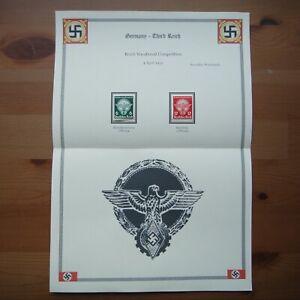 Germany Nazi 1939 Stamps MINT Emblem Swastika Eagle WWII Third Reich Deutschland