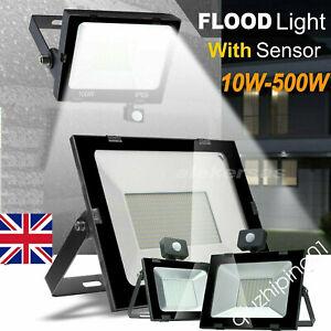 10W-500W LED Floodlight Outside Security Garden Light IP65 PIR Motion Sensor QW