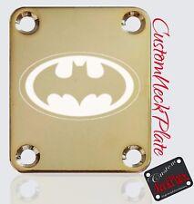GOLD Batman Engraved Guitar Neck Plate fits Fender tele/strat/s