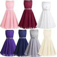 Chiffon Sequins Flower Girls Dress Bridesmaid Wedding Party Pagneant Formal Gown