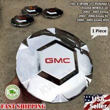 """1 NEW 2002 2003 2004 2005 2006 2007 GMC Envoy XL XUV 17"""" Wheel Center Hub Cap"""