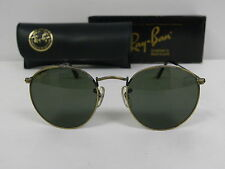 Vintage B&L Ray Ban Classic Round Metal Antique Bronze W0967 49mm Sunglasses USA