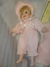"""Vintage Seymour Mann Limited Edition 13"""" Porcelain Baby Doll w/Pillow Pink"""