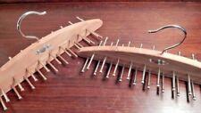 Vintage 2 Woodlore Cedar Wood Tie Hangers Organizer Hooks Closet Belt Holder Lot