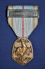 WWII French Commemorative Medal 1939-1945 w/ Defensive Passive Bar