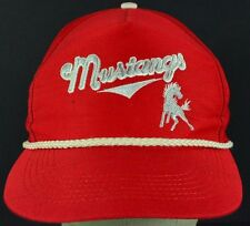 Red Denver City Mustangs embroidered baseball hat cap adjustable