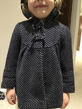 Gorgeous Navy Dotted Girls Winter Coat Age 2 - 3