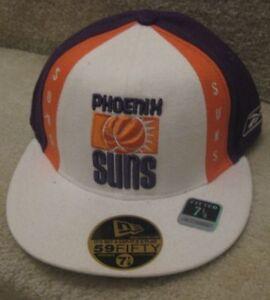 NBA Phoenix Suns Baseball Hat Cap NWT Brand New Fitted 7 1/8 Hardwood Classics