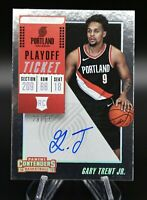 2018-19 Contenders GARY TRENT JR. Playoff Ticket On Card Auto /65 Rookie RAPTORS