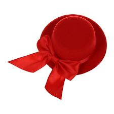Ladies Mini Top Hat Fascinator Burlesque Millinery w/ Bowknot - Red BT P5H5