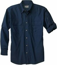 Woolrich Elite Series Men's Zip-Up Instructor Long-Sleeve Shirt - Navy Blue XL