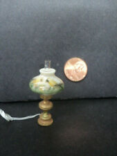 DOLLHOUSE LAMP- BRASS WITH YELLOW SHADE