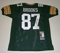 PACKERS Robert Brooks signed custom green jersey #87 JSA COA AUTO Autographed