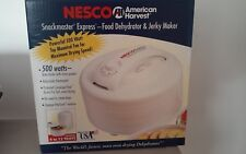 Nesco American Harvest Snackmaster Express food dehydrator and Jerkey maker