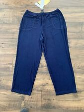 Citiknits Acetate Spandex Pants Traveler Blue Large SHORT NWT