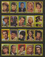 Complete Set of 40 Vlinder Movie Music Star Vintage 1970s Matchbox Label E Serie