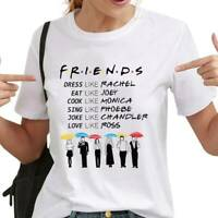 Women Short Sleeve Letters Friends T-Shirt Casual T Shirt Tops Tv Show bara