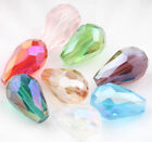 Wholesale 10-100Pcs Teardrop Czech Drop Faceted Glass Crystal Loose Spacer Beads