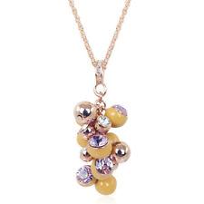 Kette Rosegold Kristalle von Swarovski® Violett Braun 70er Jahre NOBEL SCHMUCK